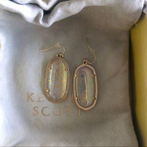 Kendra Scott Dichroic Glass Dani Earrings RARE